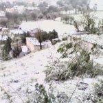Caída de nieve sorprende a varias comunidades de Veracruz