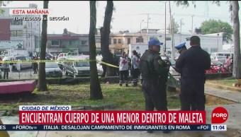 Encuentran cuerpo de una menor dentro de una maleta en Tlatelolco, CDMX