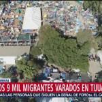 Enfermedades respiratorias aquejan a miembros de caravana migrante en Tijuana