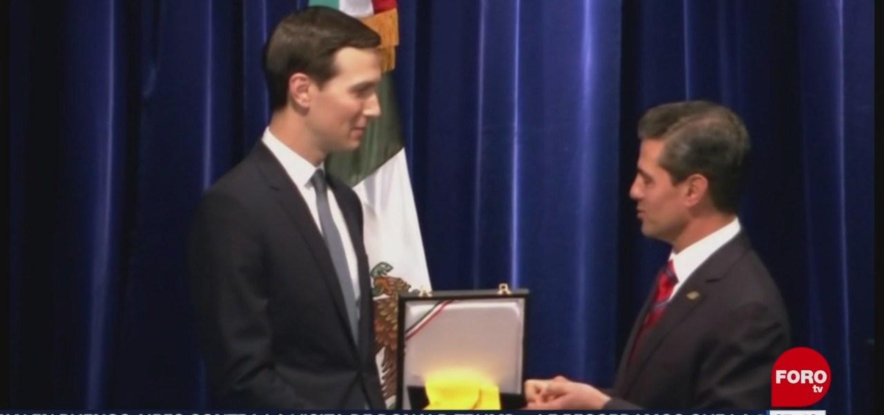EPN entrega reconocimiento del Águila Azteca a Jared Kushner