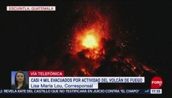 Evacuan A Miles Actividad Del Volcán De Fuego, Guatemala, Escuintla, Erupción Del Volcán De Fuego