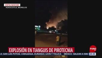 Explosión De Pirotecnia En Morelos Comunidad De Xoxocotla, Morelos Puente De Ixtla Fuegos Artificiales