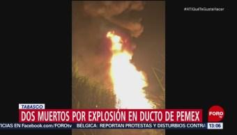 Explosión de toma clandestina deja dos muertos en Cárdenas, Tabasco