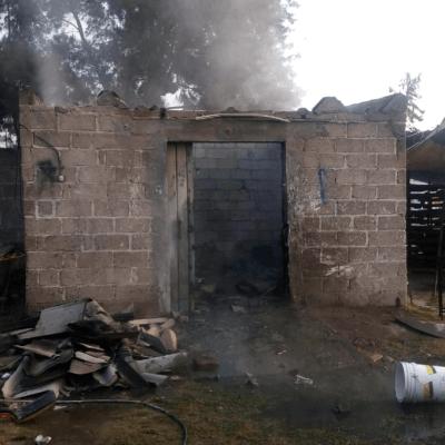 Explosión afecta taller de pirotecnia en La Saucera, Tultepec