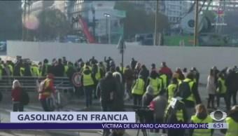 Francia protesta contra el gasolinazo; realizan marchas y bloqueos