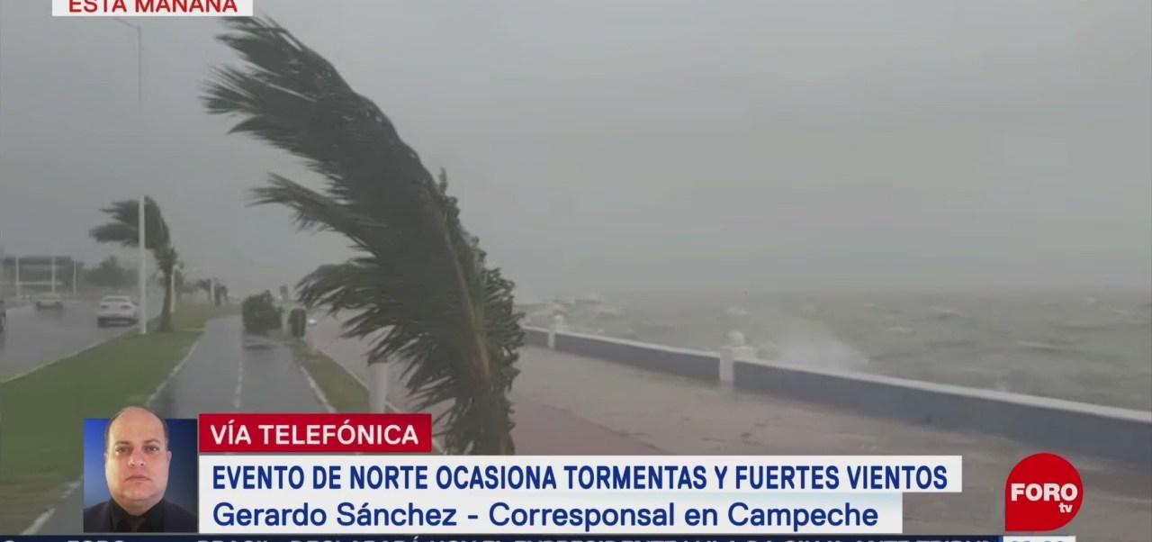 Frente frío 10 provoca fuertes vientos en Campeche