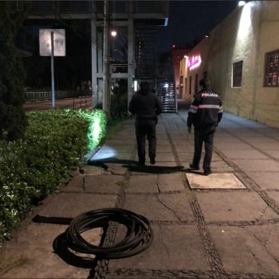 Frustran robo de cable del trolebús de la CDMX en Xola