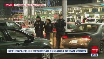 Garita San Ysidro opera con normalidad, pero con mayor seguridad
