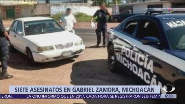Grupo armado ejecuta a 7 personas en Gabriel Zamora, Michoacán