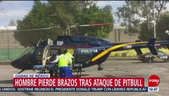 Hombre pierde brazos tras ataque de pitbull en Álvaro Obregón