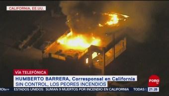 Incendio Forestal California Sin Control Incendio Forestal En California El Peor En La Historia Miles De Casas