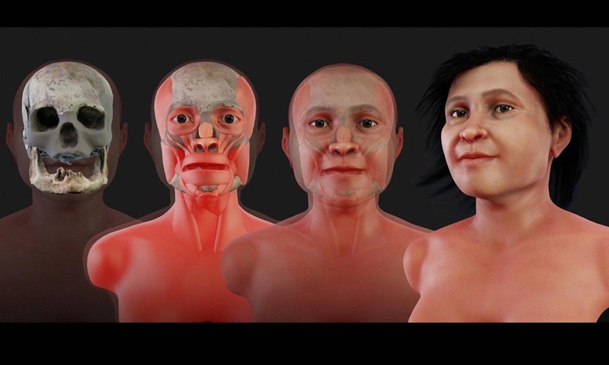 Veía Cara Mujer Indígena 1,600 Años