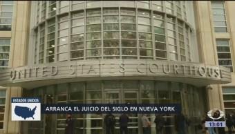 Inicia juicio contra 'El Chapo' Guzmán