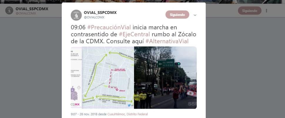 Inicia marcha de campesinos en la CDMX