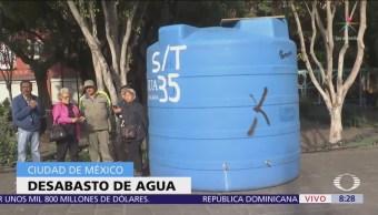 Instalan puntos de abastecimiento de agua por corte en CDMX