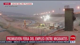 Instalan reja con alambre de púas en cauce de río en Tijuana