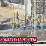 Instalan vallas en la zona fronteriza de Tijuana, BC