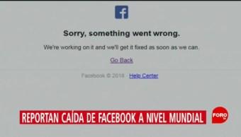 Internautas reportan caída de Facebook