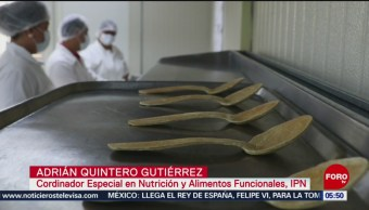 Investigadores del IPN crean cucharas comestibles