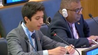 Video Estudiante UNAM Asamblea ONU Iván