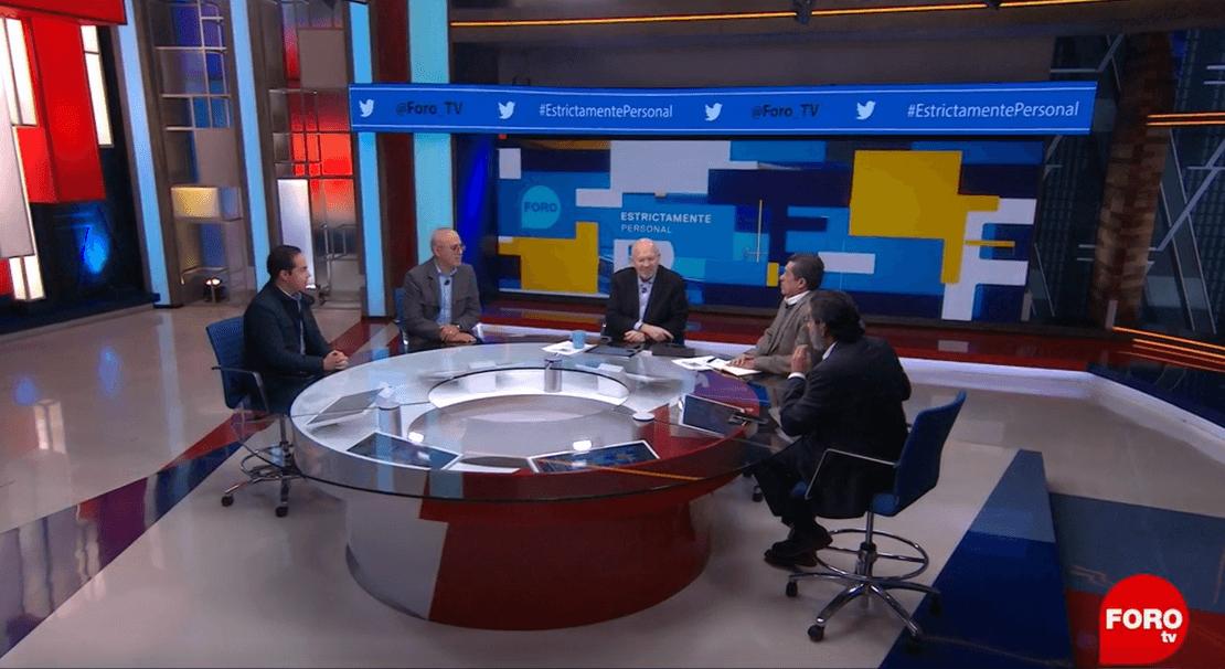 Javier Márquez, Jorge Buendía, Raymundo Riva Palacio, Rafael Cardona y Francisco Abundis. (FOROtv)