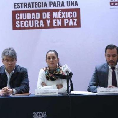 Claudia Sheinbaum presenta estrategia de seguridad para la CDMX