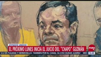 Juicio De 'El Chapo' Lunes 5 De Noviembre Nueva York