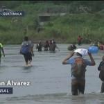 Cuarta caravana de migrantes entra a México