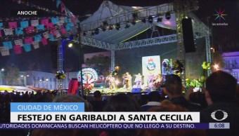 Continúan festejos a Santa Cecilia, en la Plaza Garibaldi