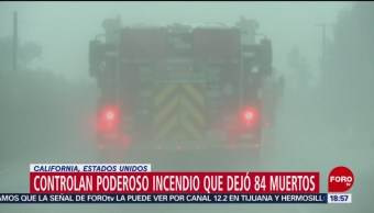 Controlan incendio en California, EU