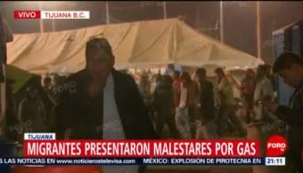 Migrantes presentaron malestares por gas lacrimógeno