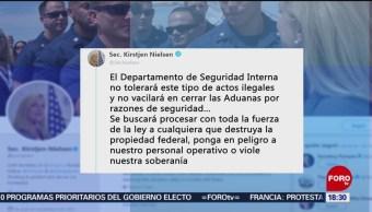 Nielsen justifica cierre de garita de San Ysidro