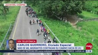 Detienen a migrantes en su rumbo a Pijijiapan, Chiapas