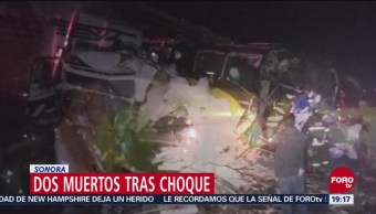 Dos Muertos En Sonora Choque Entre Un Camión Pasajeros Tráiler