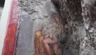 Fresco Erótico Ceniza Volcánica Leda Cisne