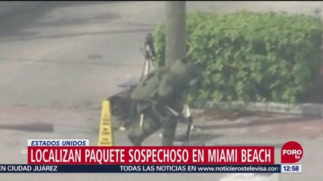 Localizan paquete sospechoso en Miami Beach, Florida