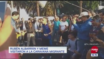 #LoEspectaculardeME: Integrante de Café Tacuba visitan caravana migrante en CDMX