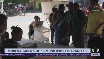 Morena gana 5 de 10 municipios con elecciones extraordinarias en Chiapas