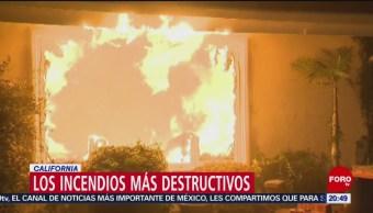 Incendios Destructivos California Noviembre Estados Unidos