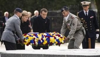 Histórico encuentro entre Macron y Merkel