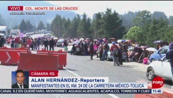 Manifestantes Bloquean Carretera Federal México-Toluca Kilómetro 24 Carretera Federal México-Toluca Estado De México