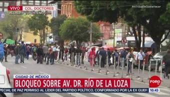 Manifestantes bloquean Río de la Loza y Chapultepec, CDMX