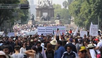 Marchan a favor del NAIM en la CDMX; llaman a otra movilización el 2 de diciembre