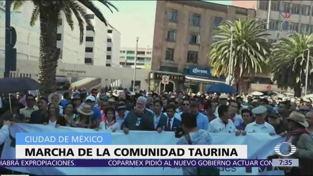Marchan en defensa de la tauromaquía en la CDMX