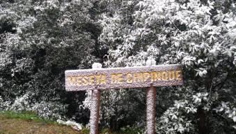 Fotos y videos: Nieve pinta de blanco montañas de Nuevo León