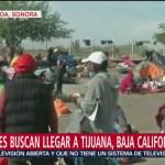Miembros de la caravana migrante se encuentran varados en Sonora