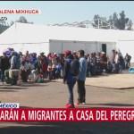 Miembros de la segunda caravana migrante son trasladados a 'Casa del Peregrino'