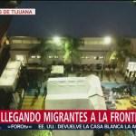 Migrantes de caravana siguen llegando a Tijuana