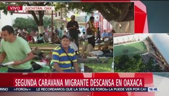 Migrantes llegan a Juchitán, Oaxaca