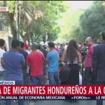 Migrantes llegan a oficinas de la ONU en Polanco